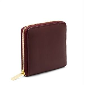Barney's New York Small Leather Zip Around Wallet
